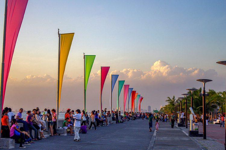 sunset in Manila