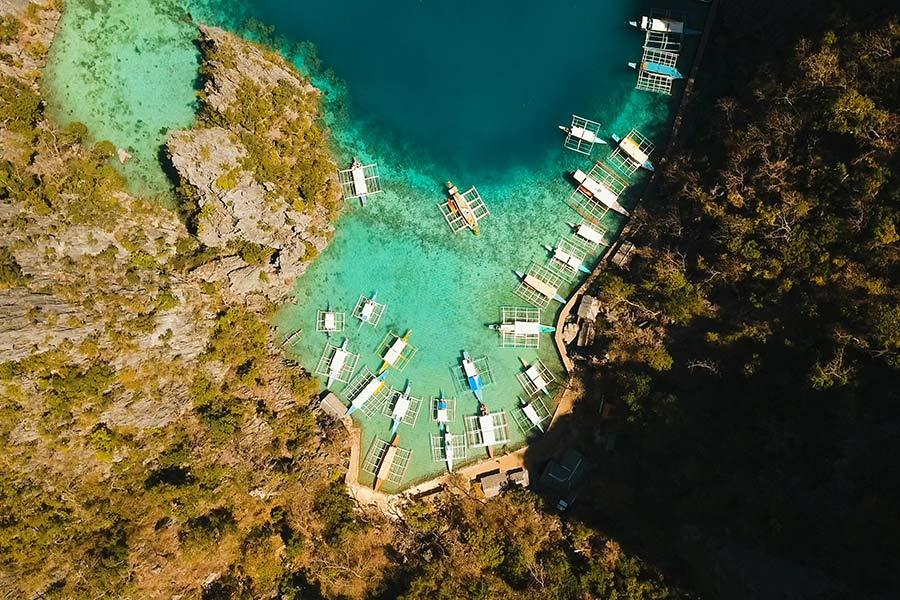 Beautyful lagoon in Kayangan Lake, Coron, Palawan