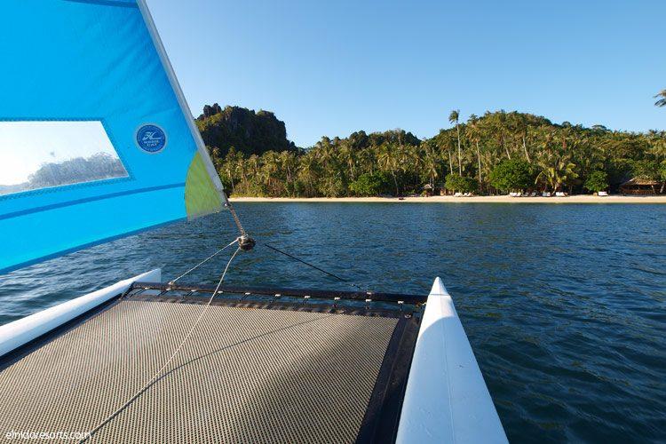 El Nido Resorts Activities - Hobie Cat Sailing in Dibulan Beach Club