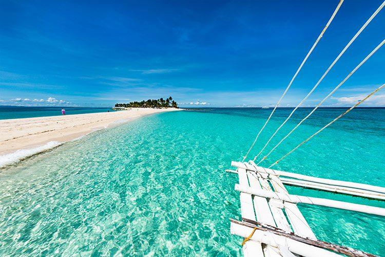 Tropical beach Kalanggaman island
